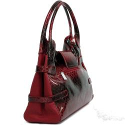 Dasein Snakeskin Embossed Shoulder Bag