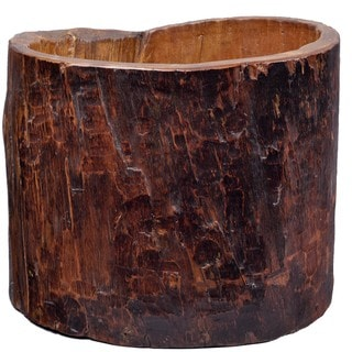 Vintage Tree Trunk Bucket
