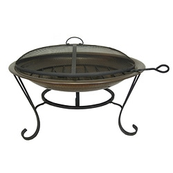 Antiqued Brass Firepit