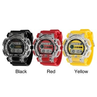 Geneva Platinum Women's Plastic 12-Digit Light-Up Sports Watch