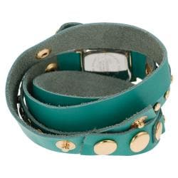 Geneva Platinum Women's Studded Classic Wraparound Watch