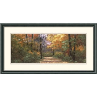 Diane Romanello 'Autumn Road Panel' Framed Art Print