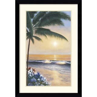 Diane Romanello 'Palm Beach Sunrise' Framed Art Print