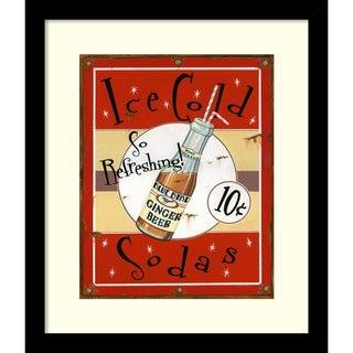 Lesley Hallas 'Ice Cold Soda' Framed Art Print