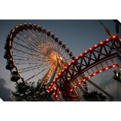 Chicago Navy Pier Ferris Wheel Oversized Gallery Wrapped Canvas