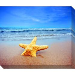 Starfish on the Beach Oversized Gallery Wrapped Canvas
