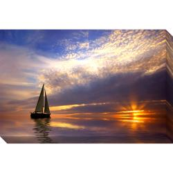 Sailing at Sunset Oversized Gallery Wrapped Canvas