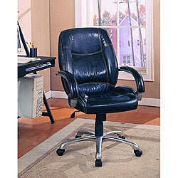 Black Leather-look Office Swivel Chair