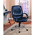 Black Leather-look Office Chair