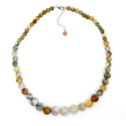 Pearlz Ocean Sterling Silver Ocean Jasper Journey Necklace