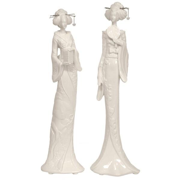 Standing Geisha 19-inch Statue Set (China)