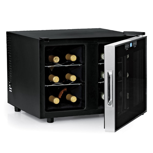 Wine Enthusiast Silent 12 Bottle Dual Zone Touchscreen Wine Cooler Slimline Edition