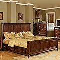 Hawthorne Queen Bed with 4-drawers