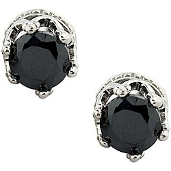 Onyx Crown Stud Earrings
