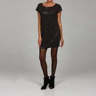 Vivienne Vivienne Tam Women's Sequined Boxy Tee Mini Dress