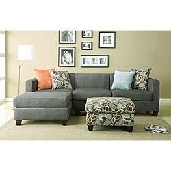 Anthony Charcoal Sectional Sofa Set
