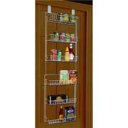 5 foot Vinyl Covered Steel Overdoor Storage Basket Rack