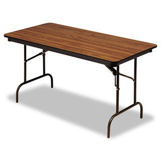Iceberg Premium 60-inch Rectangular Melamine-and-steel Folding Table
