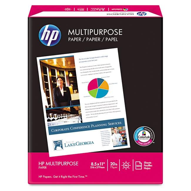 HP White 96 Brightness 8 x 11 Multipurpose Paper (Pack of 500 sheets)
