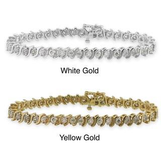 14k Gold 7ct TDW Diamond Tennis Bracelet (I-J, I1-I2)