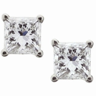 14k White Gold 1 1/2ct TDW Certified Diamond Stud Earrings (H-I, VVS2-VS1)
