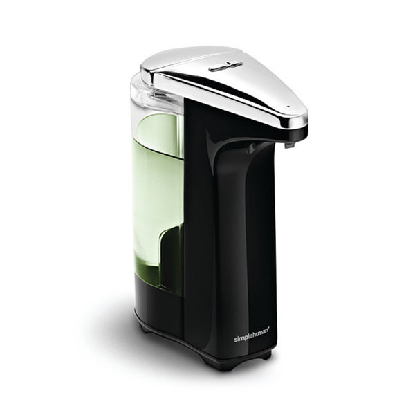 simplehuman 8-ounce Black Compact Sensor Pump for Soap or Sanitizer