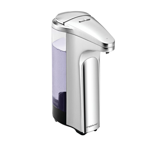 Simplehuman 13-ounce Brushed Compact Sensor Pump for Soap or Sanitizer