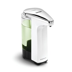 simplehuman 8-ounce White Compact Sensor Pump for Soap or Sanitizer