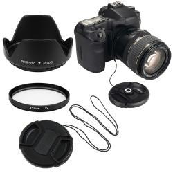 INSTEN 55-mm Lens Hood/ UV Filter/ Lens Cap/ Cap Keeper for Nikon D40X/ D60