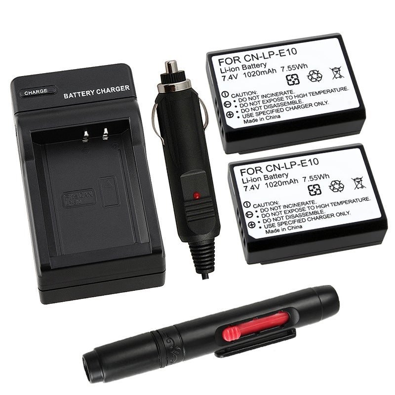 INSTEN Battery/ LCD Cleaner/ Chargers for Canon EOS 1100D/ Rebel T3/ LP-E10