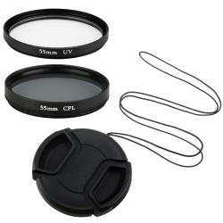55-mm Polarizing Filter/ UV Filter for Leica V-LUX 1