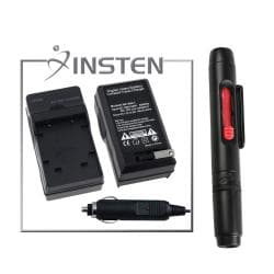 INSTEN Charger Set/ Lens Cleaning Pen for Olympus FE-20/ 350