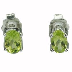 De Buman Sterling Silver Peridot Earrings