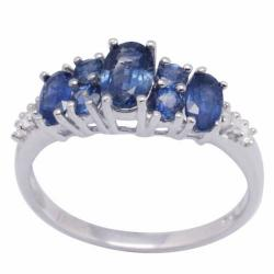 De Buman Sterling Silver Sapphire Ring