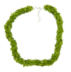 Pearlz Ocean Peridot Chip Necklace