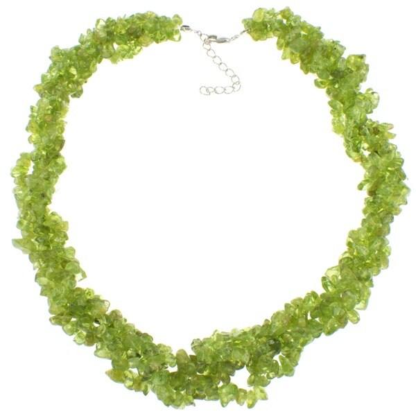 Pearlz Ocean Peridot Chip Necklace