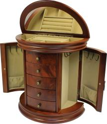 Seya Burlwood Walnut Jewelry Box