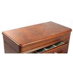 Seya Walnut Burlwood Jewelry Box