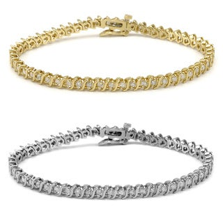 Auriya 14k Gold 2ct TDW Diamond Tennis Bracelet (I-J, I1-I2)