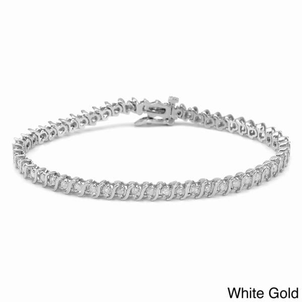 Auriya 14k Gold 2ct TDW Diamond Tennis Bracelet (I-J, I1-I2)