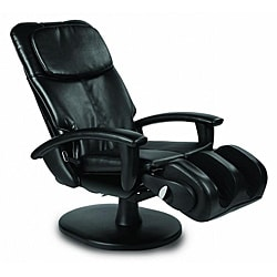 Black WholeBody Massage Chair with Padded Arms (Refurbished)