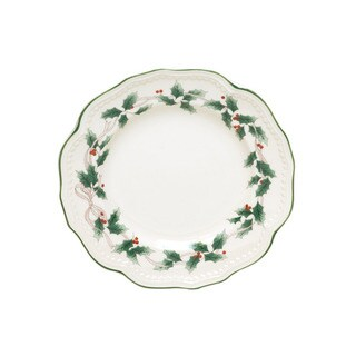 Red Vanilla Classic White Holly 8.5-inch Salad Plate (Set of 4)