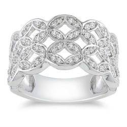 M by Miadora Sterling Silver 1/2ct TDW Diamond Ring (H-I, I3)