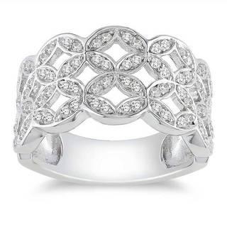 M by Miadora Sterling Silver 1/2ct TDW Diamond Ring (H-I, I3)