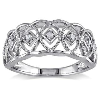 M by Miadora Sterling Silver 1/10ct TDW Round-cut Diamond Ring (H-I, I3)