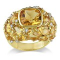 Miadora Silver Madeira Citrine and 1/10ct TDW Diamond Ring (G-H,I3)