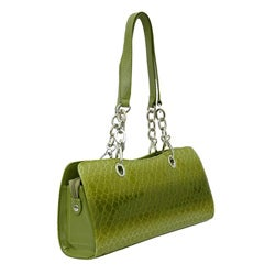 Dasein Leatherette Croco Embossed Chain Shoulder Bag