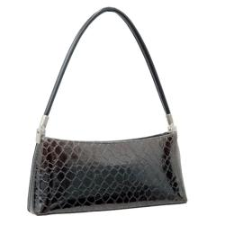 Dasein Mini Patent Leatherette Embossed Snake Skin Shoulder Bag