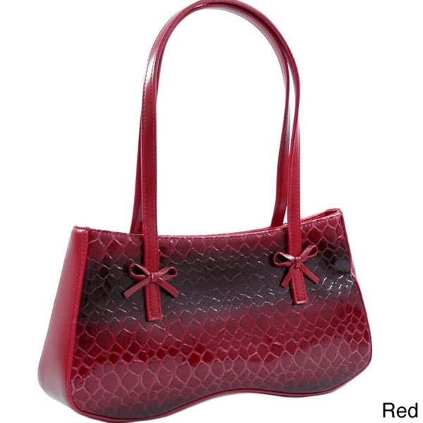 Dasein Classic Embossed Snake Skin Shoulder Bag