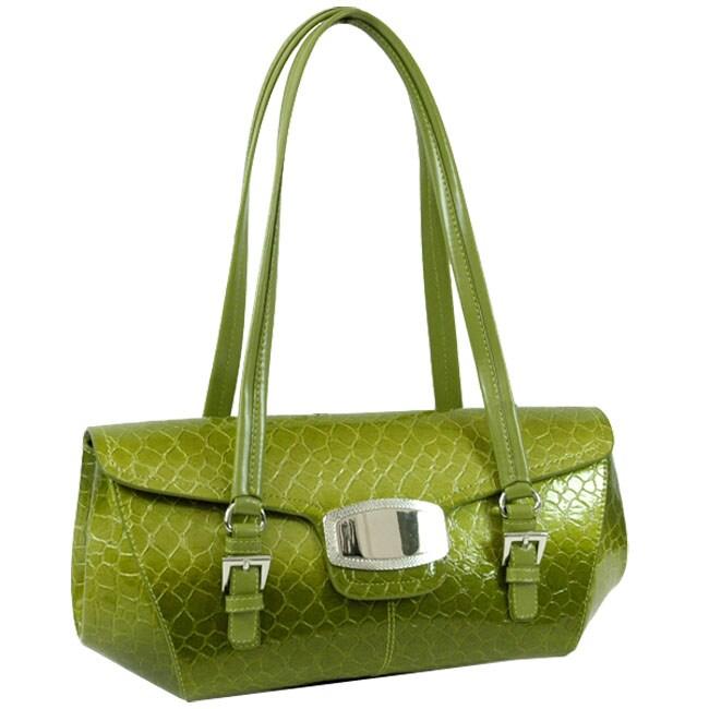 Dasein Embossed Snake Skin Shoulder Bag
